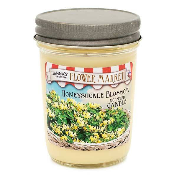 Honeysuckle Blossom Scented Small Pint Jar Candle - Candlemart.com