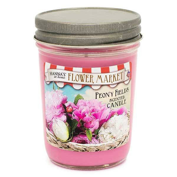 Peony Fields Scented Small Pint Jar Candle - Candlemart.com