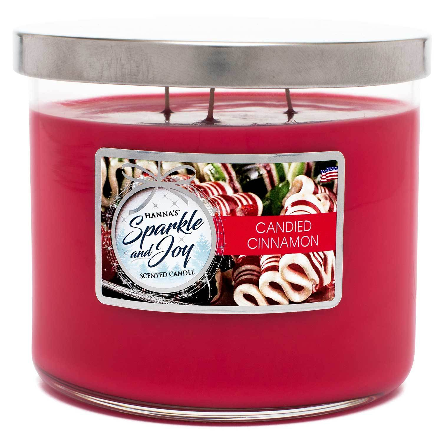 Candied Cinnamon Scented Large 3 wick Candle - Candlemart.com
