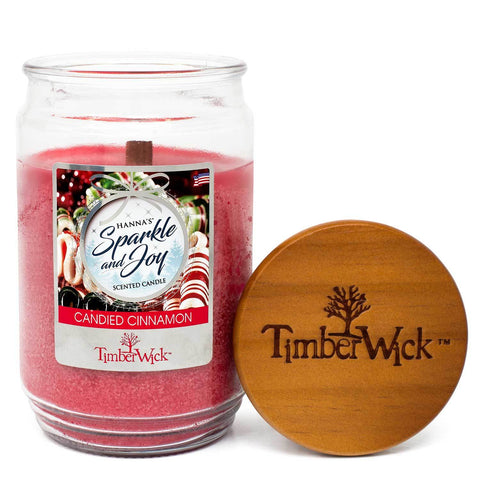 TimberWick Candied Cinnamon Mottled Scented Wax Candle - Candlemart.com