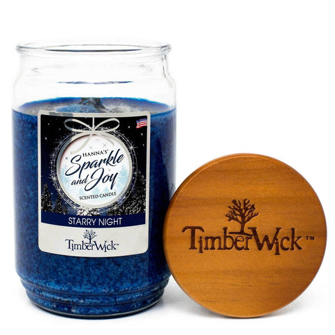 TimberWick Starry Night Mottled Scented Wax Candle - Candlemart.com