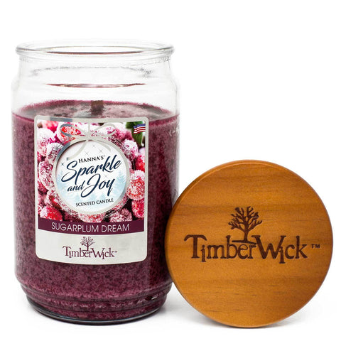 TimberWick Sugarplum Dream Mottled Scented Wax Candle - Candlemart.com