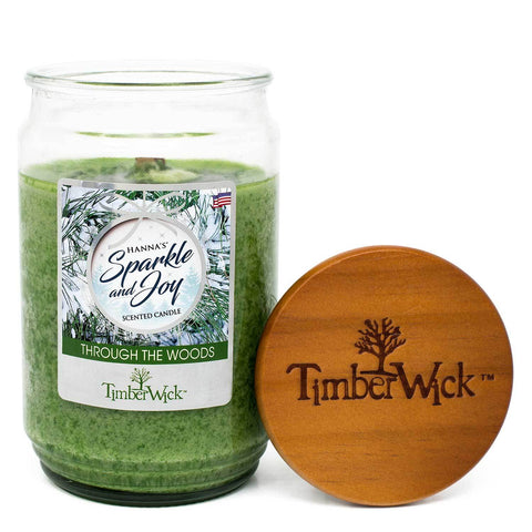 TimberWick Through The Woods Mottled Scented Wax Candle Timberwick Candlemart.com $ 14.99