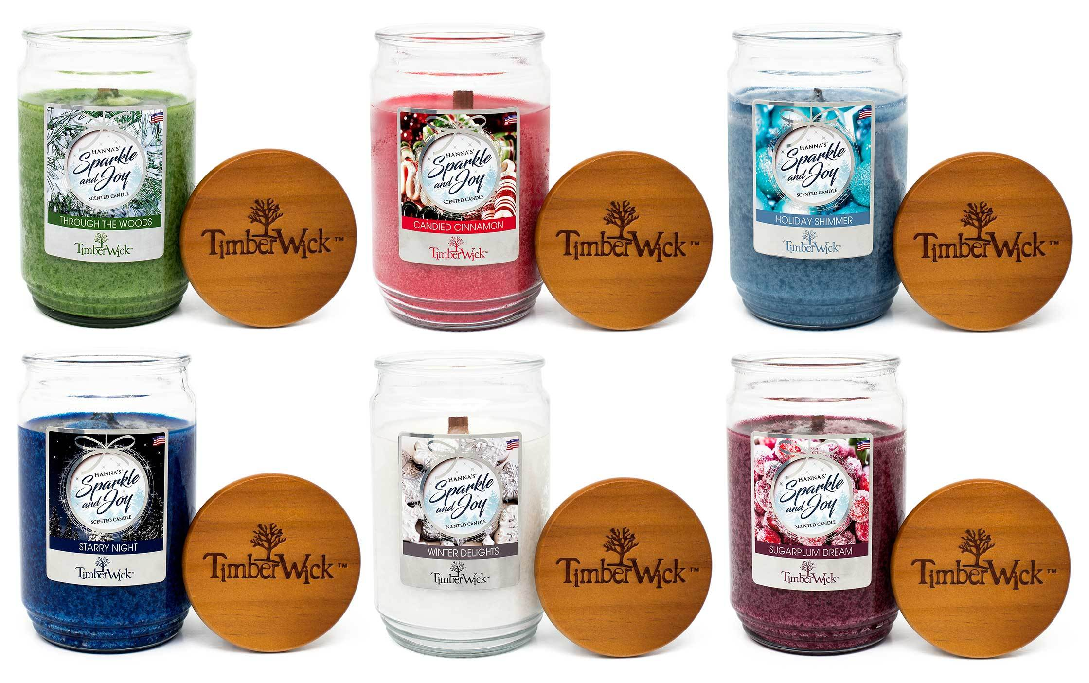 TimberWick Candied Cinnamon Mottled Scented Wax Candle Timberwick Candlemart.com $ 7.50