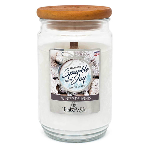 TimberWick Winter Delights Mottled Scented Wax Candle Timberwick Candlemart.com $ 14.99