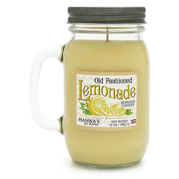 Old Fashioned Lemonade Scented Pint Jar Candle Candles Candlemart.com $ 11.99