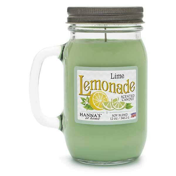 Lime Lemonade Scented Pint Jar Candle Candles Candlemart.com $ 11.99