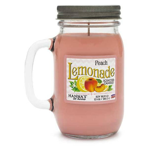 Peach Lemonade Scented Pint Jar Candle - Candlemart.com