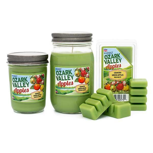 Country Green Apples Scented Small Jar Candle Candles Candlemart.com $ 5.49
