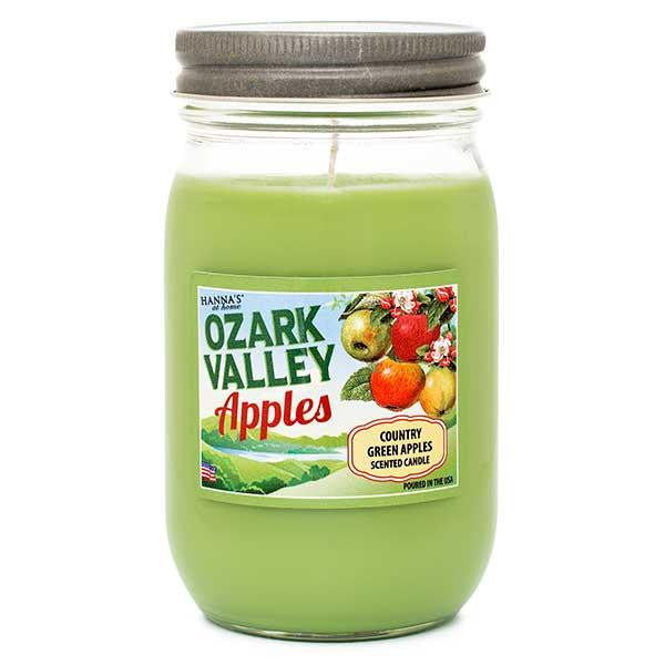 Country Green Apples Scented Large Jar Candle Candles Candlemart.com $ 9.99