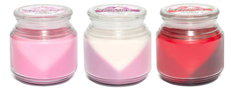 Valentine's Trios Triple Pour Romance Scented Candle - Candlemart.com - 2