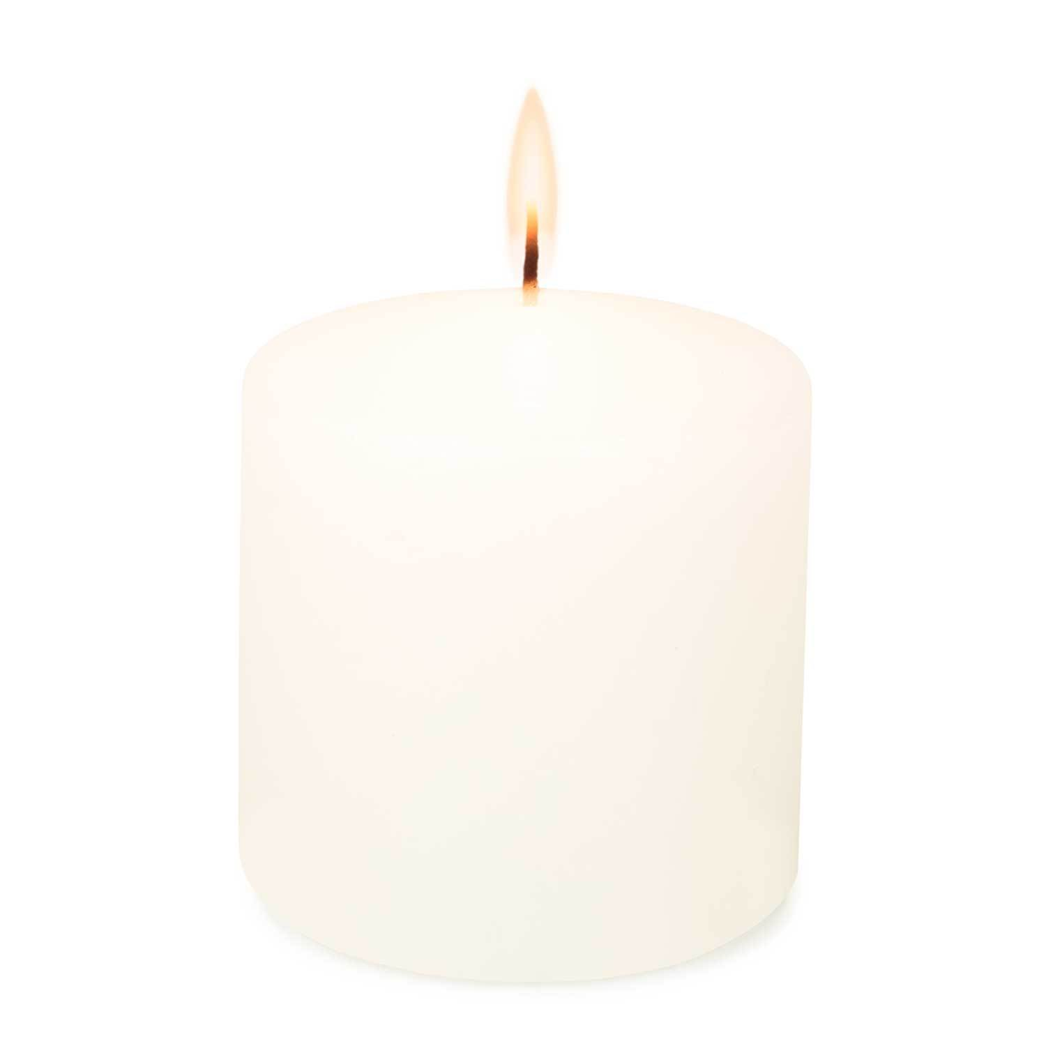 3x3 Unscented White Pillar Candle