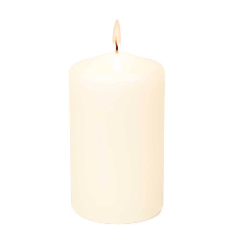 3x4 Unscented Ivory Pillar Candle