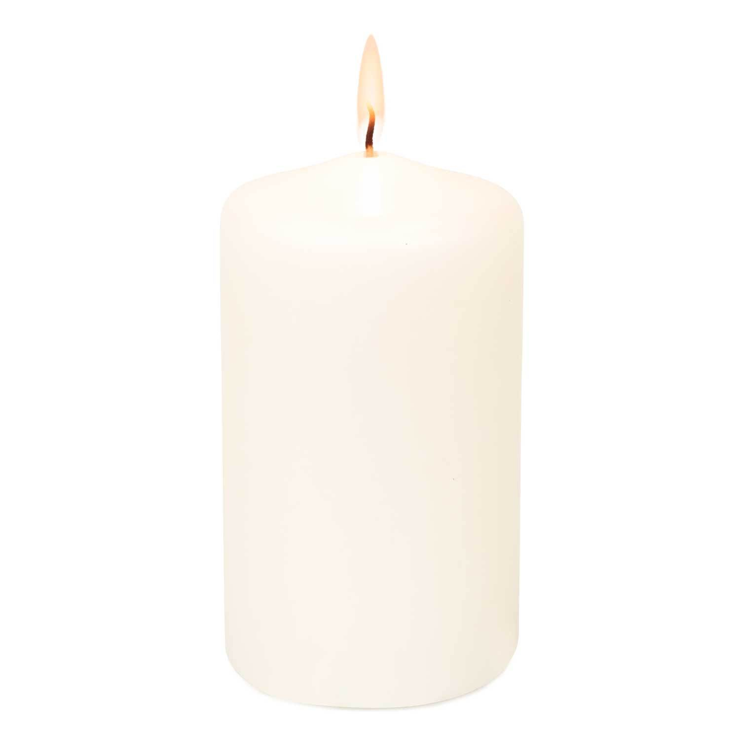 3x4 Unscented White Pillar Candle Candles Candlemart.com $ 2.99
