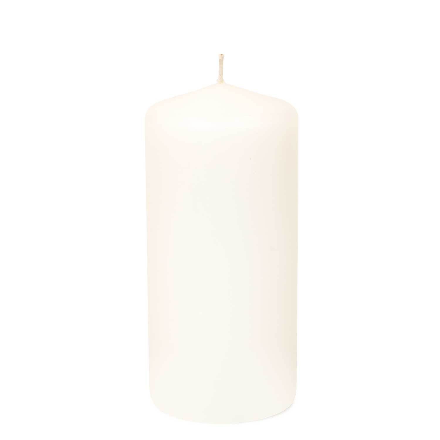 3x6 Unscented White Pillar Candle
