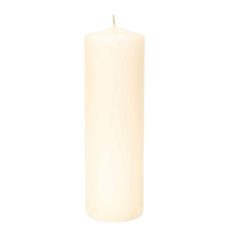 3x9 Unscented Ivory Pillar Candle