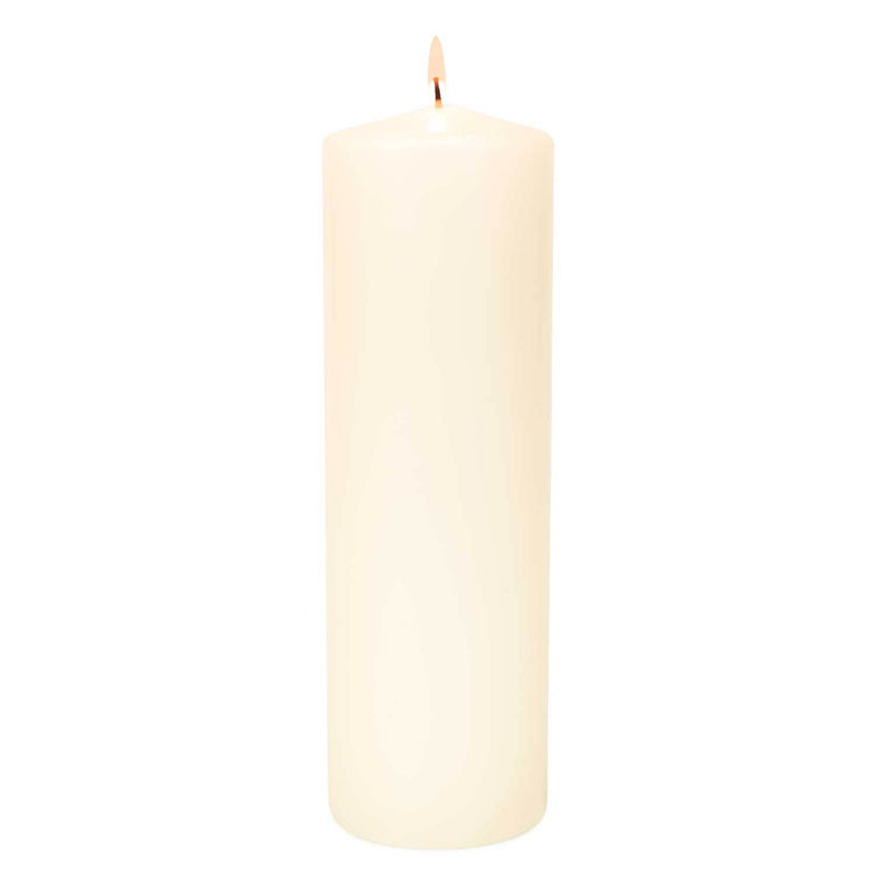 3x11 Unscented Ivory Pillar Candle