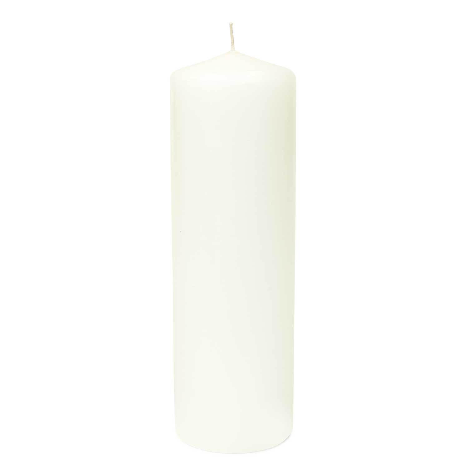 Buy 3x9 Unscented White Pillar Candle At Candlemart Com For Only 4 49