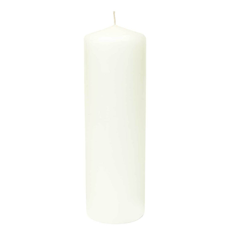 3x11 Unscented White Pillar Candle