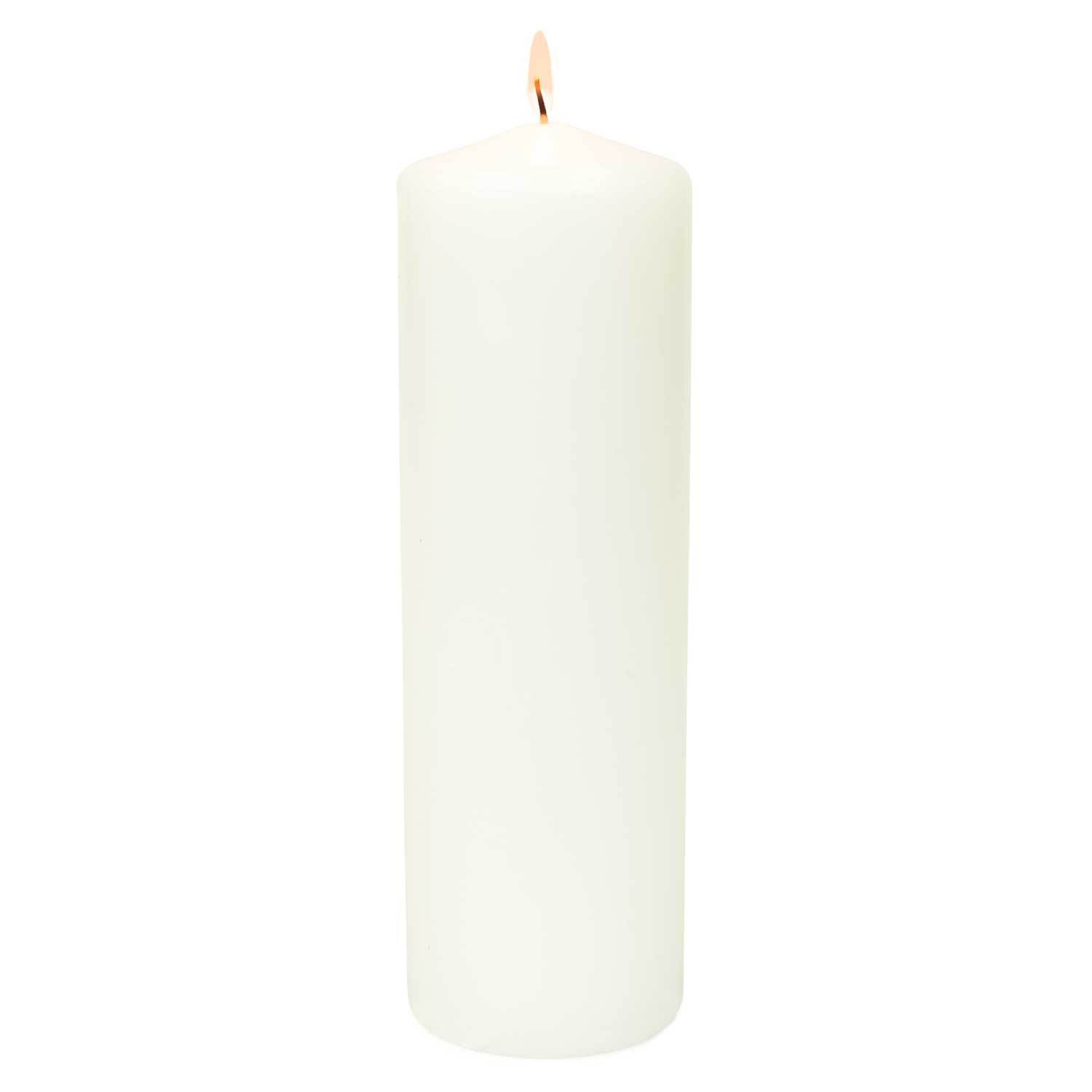 3x12 Unscented White Pillar Candle