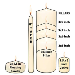 3x4 Unscented Ivory Pillar Candle Candles Candlemart.com $ 2.99