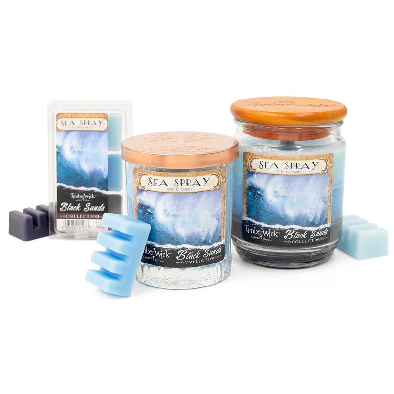 TimberWick Sea Spray Scented Mottled Candle