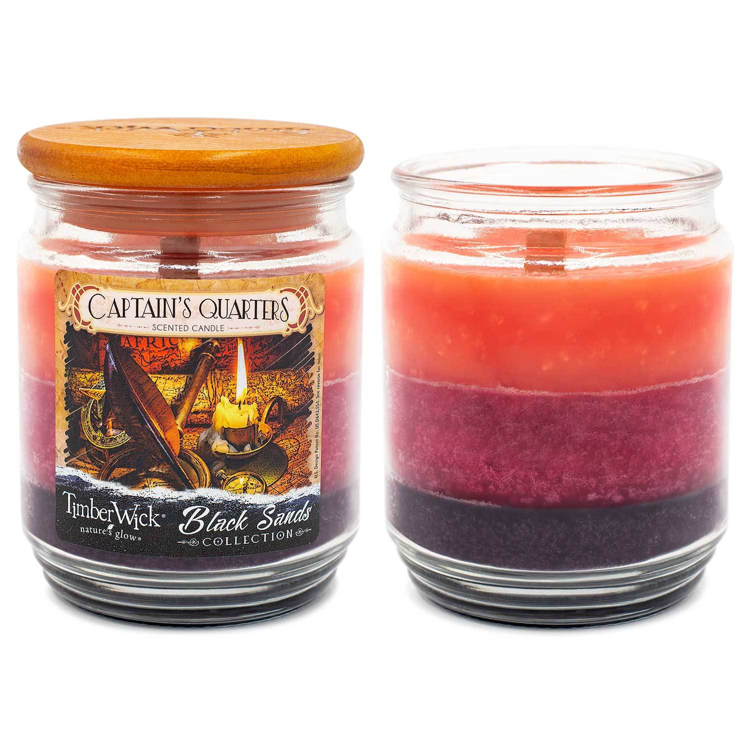TimberWick Captain's Quarters Scented Mottled Candle