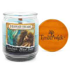 TimberWick Mermaid Dreams Scented Mottled Candle Timberwick Candlemart.com $ 12.99