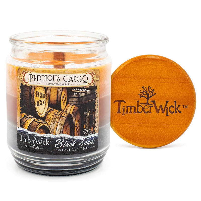 TimberWick Precious Cargo Scented Mottled Candle