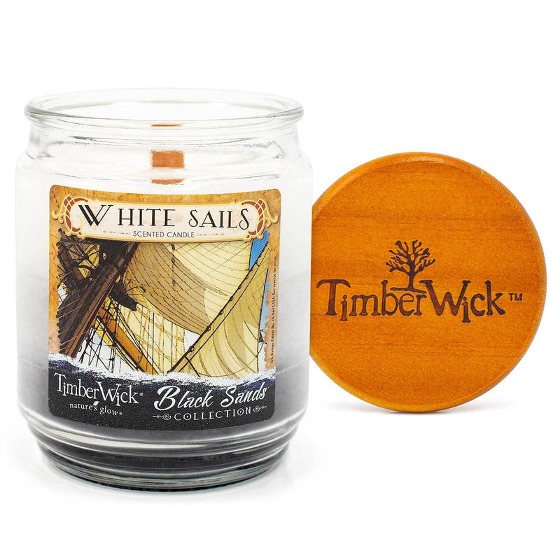 TimberWick White Sails Scented Mottled Candle