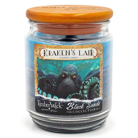 TimberWick Kraken's Lair Scented Mottled Candle Timberwick Candlemart.com $ 12.99