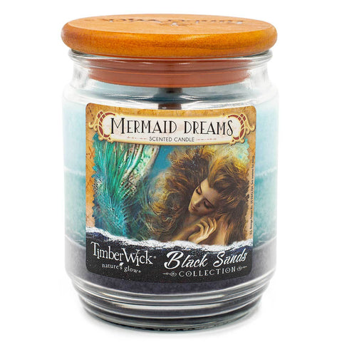TimberWick Mermaid Dreams Scented Mottled Candle