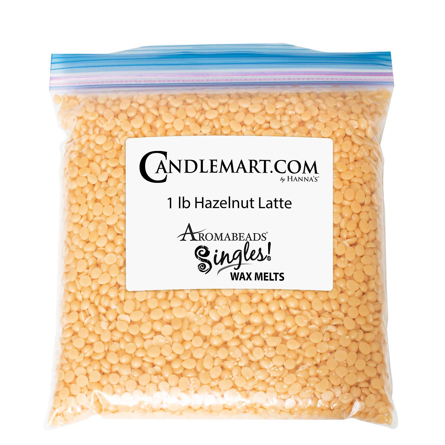 Aromabeads Hazelnut Latte Bulk Wax Beads Bulk Bag Wax Melts Candlemart.com $ 9.99
