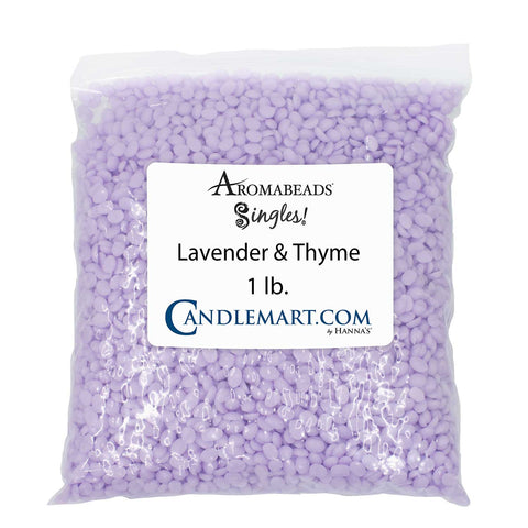 Aromabeads Singles Lavender Thyme Bulk Wax Beads Melts Candlemart.com $ 9.99
