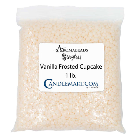 Aromabeads Singles Vanilla Frosted Cupcake Bulk Wax Beads