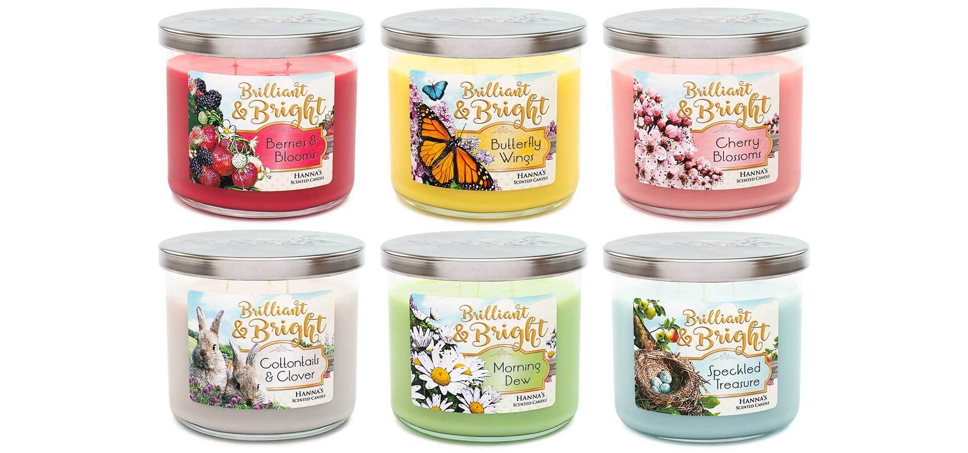 Cottontails & Clover Scented Large 3 wick Candle