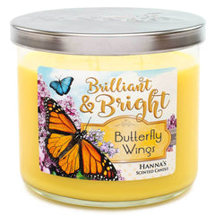 Butterfly Wings Scented Large 3 wick Candle