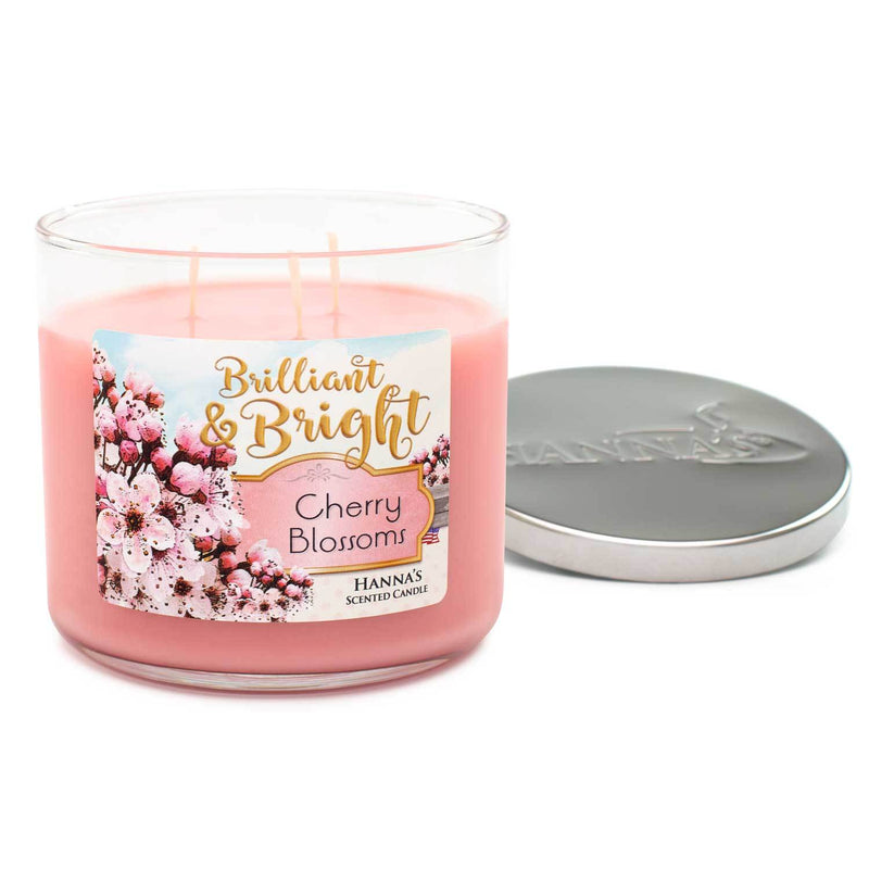 Cherry Blossoms Scented Large 3 wick Candle