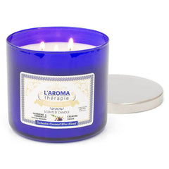 Lavender Chamomile Essential Oil 3 wick Candle Candles Candlemart.com $ 23.99