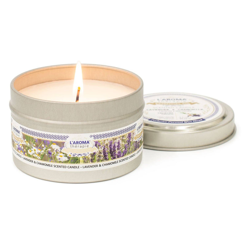 Lavender Chamomile Essential Oil Tin Candle