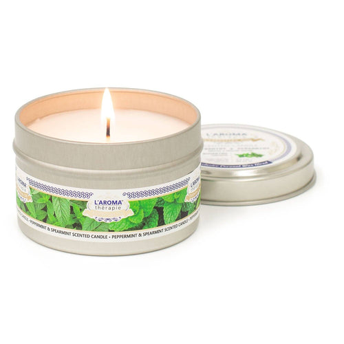 Peppermint Spearmint Essential Oil Tin Candle