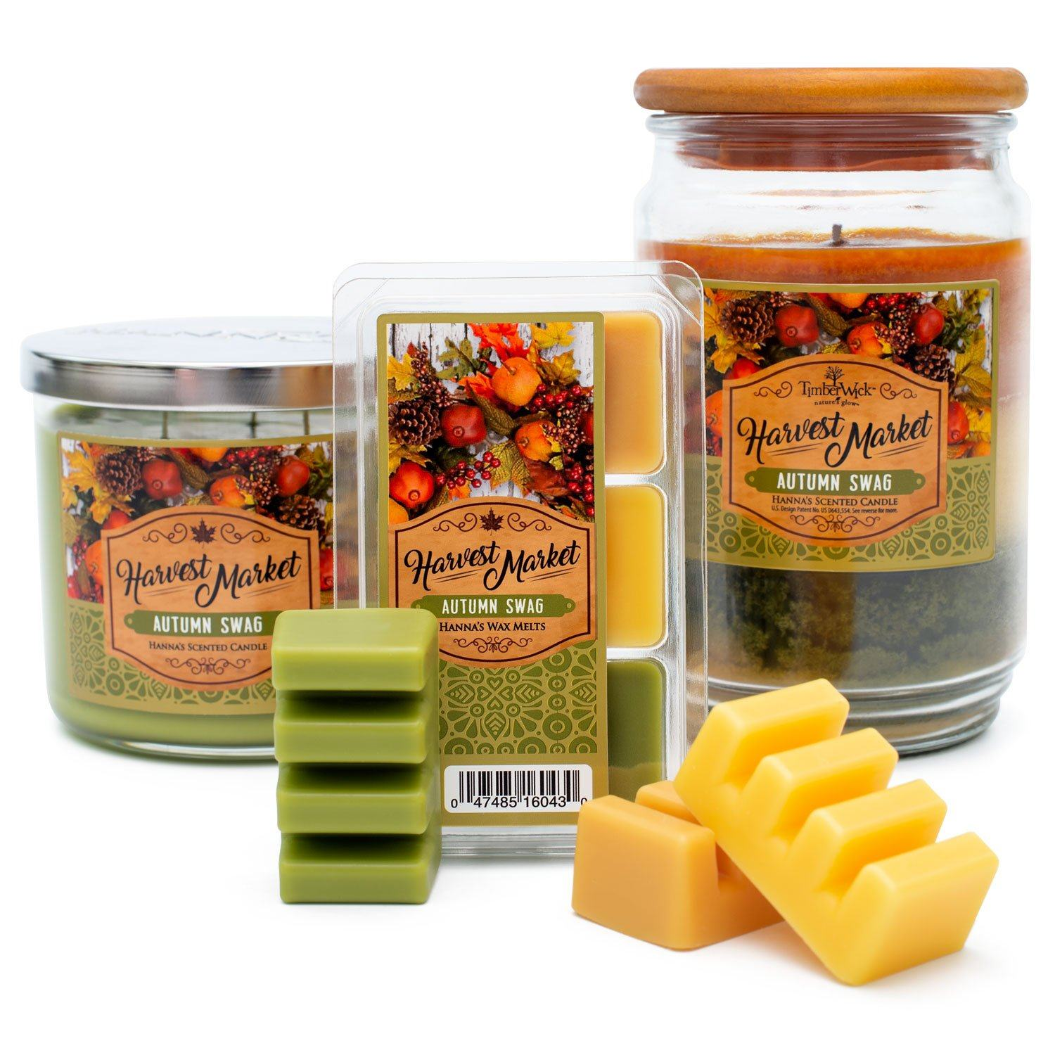 Autumn Swag Scented 3 Wick Candle Candles Candlemart.com $ 11.99