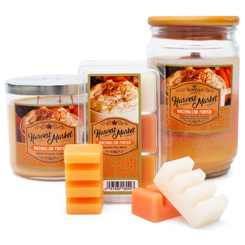TimberWick Marshmallow Pumpkin Scented Mottled Candle