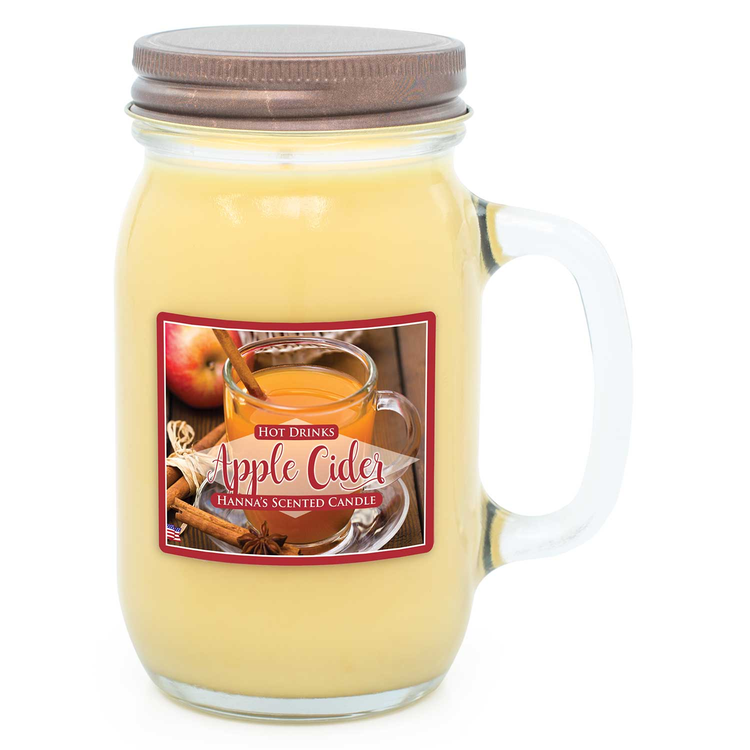 Apple Cider Scented Pint Jar Candle