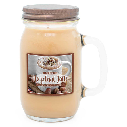 Hazelnut Latte Scented Pint Jar Candle