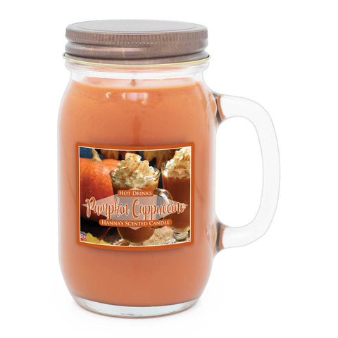 Pumpkin Cappuccino Scented Pint Jar Candle