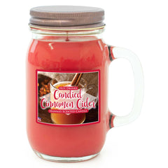 Candied Cinnamon Cider Scented Pint Jar Candle