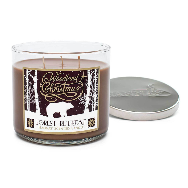 Forest Retreat Scented 3 Wick Candle