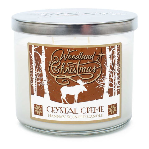 Crystal Creme Scented 3 Wick Candle