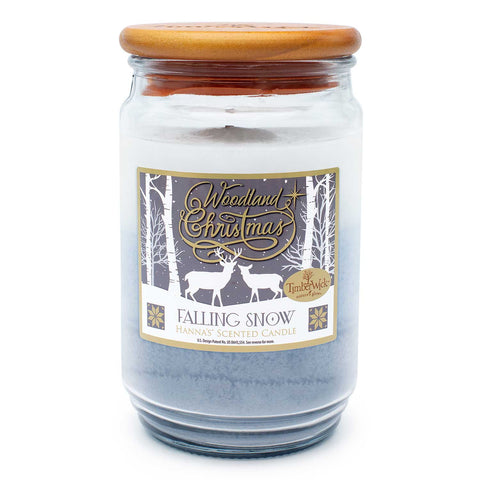 TimberWick Falling Snow Scented Mottled Candle